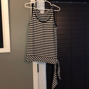 Black and white striped Tanktop with side tie